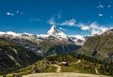perfect view in switzerland